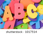 alphabet pile - stock photo