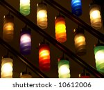 Color lamps - stock photo