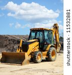 construction equipment bulldozer - stock photo
