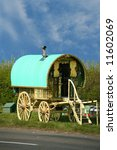 gypsy caravan - stock photo