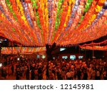 Celebration of buddha birthday, Seoul, South Korea - stock photo