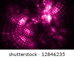 Hot Pink Grid Distorted - Fractal Design - stock photo