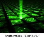 Cyber Grid Hub - the source - stock photo