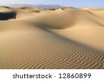 Sand Dunes in Death Valley National Park , California - stock photo