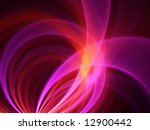 Hot Pink Circle Arcs - Fractal Design - stock photo