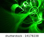 CyberGrowth - Fractal Illustration - stock photo