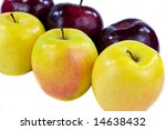 Six Apples Closeup - stock photo