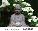 Backyard Garden Buddha - stock photo
