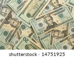 Dollar Background - stock photo