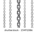 Multiple chains against a white background. - stock photo
