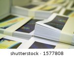 Bundled Brochures - stock photo