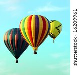 Hot air balloon festival - stock photo