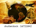 old travel - stock photo