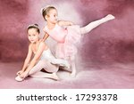 Young dancer wearing a tutu and tiara - stock photo