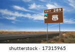 Historic Route 66 portion from Gallup, New Mexico to Flagstaff, Arizona. - stock photo