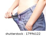 diet's working! - stock photo