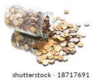 coins jar opened - stock photo