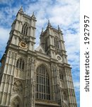 Westminster Abbey in London, England - stock photo