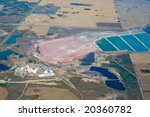 High altitude image of a potash mine in Southern Saskatchewan. - stock photo