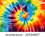 spiral tie dye design - stock photo