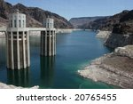 Hoover Dam at the border of Nevada and Arizona - stock photo