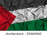 Waving flag of Palestine - stock photo