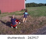 Boys playing - stock photo