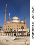 The Mosque of Muhammad Ali in the Citadel of Saladin in Old Cairo, Egypt - stock photo