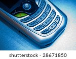 Cellphone with green button and red phone mark on top - stock photo