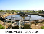 An old sewage treatment plant in England - stock photo