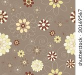 Retro/vintage/modern floral seamless background - stock vector