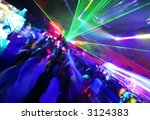 Large Disco Party full of people - stock photo