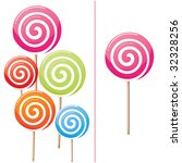 Delicious lollipop collection - stock vector