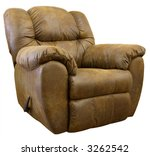 Brown Micro Suede Rocker Recliner Chair - stock photo
