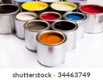 The colors of the rainbow - stock photo