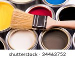 Paint palette - stock photo