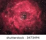 NGC 2244 The Rosette Nebula - stock photo