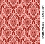 Seamless vector damask background - stock vector