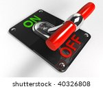 Chrome Toggle switch (OFF) - stock photo