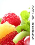 healthy organic fresh fruit salad - stock photo