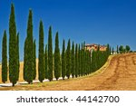 Tuscany view - stock photo