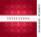 Invitation vector red card - stock vector