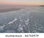 sea, winter, ice - stock photo