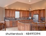 Beautiful modern kitchen - stock photo
