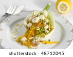 Crab with fennel - stock photo