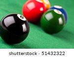 Billiard balls - stock photo