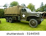 A US WW II historic vintage transport truck - stock photo