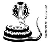 Snake, Cobra, tattoo - stock vector