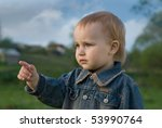 The child teaches to live correctly. - stock photo