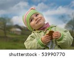 Children very much love sweets! - stock photo